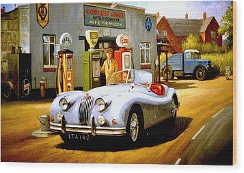 Jaguar Xk 140 Wood Print