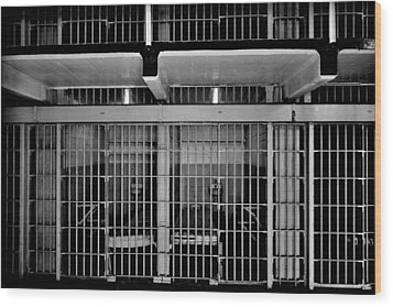 Jail Cells Wood Print by Benjamin Yeager
