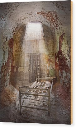 Jail - Eastern State Penitentiary - 50 Years To Life Wood Print by Mike Savad