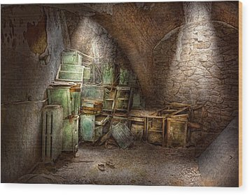 Jail - Eastern State Penitentiary - Cabinet Members  Wood Print by Mike Savad