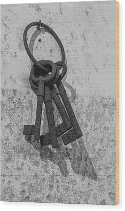 Wood Print featuring the photograph Jail House Keys by Patricia Schaefer