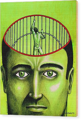 Jailer Of The Your Own Prison Wood Print by Paulo Zerbato