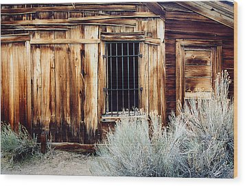 Wood Print featuring the photograph Jailhouse In Bodie State Park California by Mary Bedy