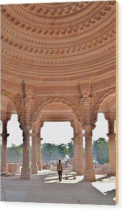 Jain Temple Entrance - Amarkantak India Wood Print by Kim Bemis