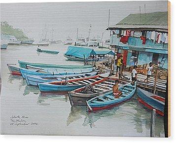 Jakarta Blues  Wood Print