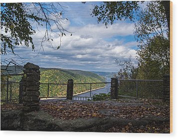 Jakes Rocks Overlook Wood Print