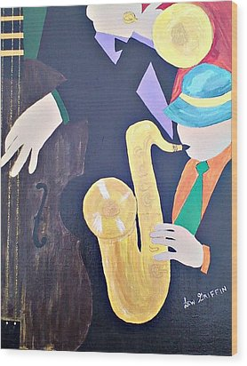 Jam Session Wood Print by Lew Griffin