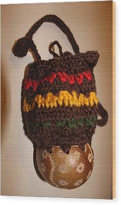 Jamaican Coconut And Crochet Shoulder Bag Wood Print by MOTORVATE STUDIO Colin Tresadern