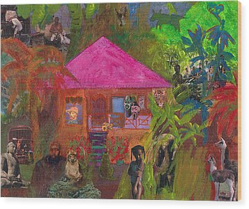 Jamaican Holiday Wood Print by Catherine Redmayne