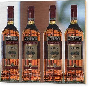 Jamaican Rum Dark Wood Print by Marjorie Imbeau