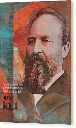 James A. Garfield Wood Print by Corporate Art Task Force