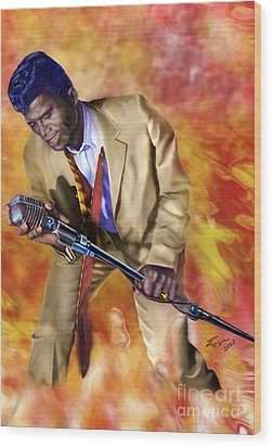 James Brown And His Famous Flames Wood Print by Reggie Duffie