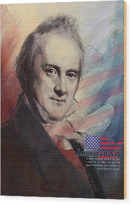 James Buchanan Wood Print by Corporate Art Task Force