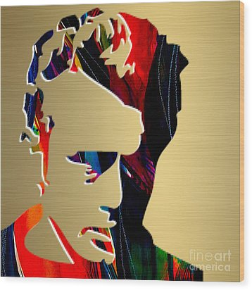 James Dean Gold Series Wood Print
