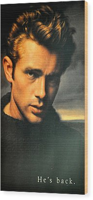 James Dean Wood Print by Jay Milo