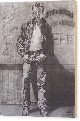 James Dean Wood Print by Sean Connolly