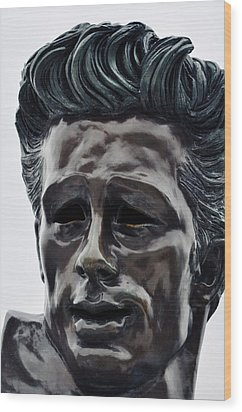 Wood Print featuring the photograph James Dean The Rebel by Kyle Hanson