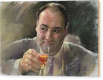 James Gandolfini Wood Print by Viola El