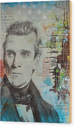 James K. Polk Wood Print