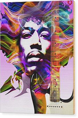 James Marshall Hendrix Wood Print