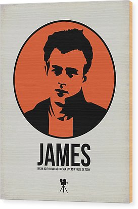 James Poster 1 Wood Print by Naxart Studio