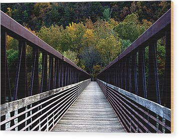 James River Footbridge Wood Print