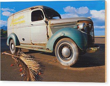 Jamesons Truck Wood Print by Ron Regalado