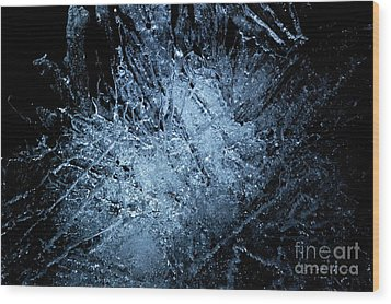 Wood Print featuring the photograph jammer Frozen Cosmos by First Star Art