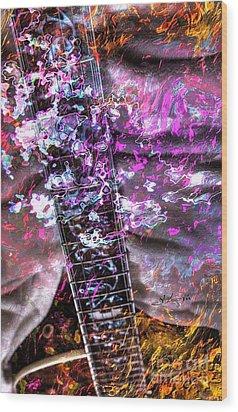 Jammin Out Digital Guitar Art By Steven Langston Wood Print by Steven Lebron Langston
