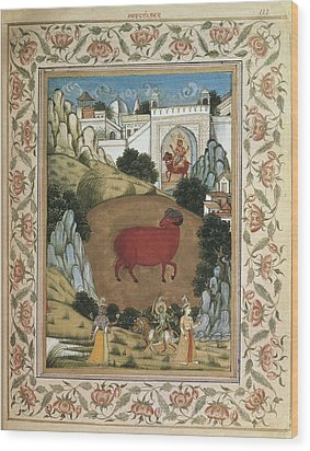 Jamnapattra Of The Prince Of Lahore Wood Print by Everett