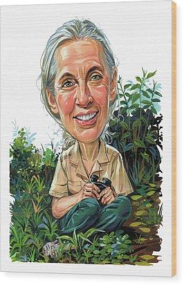 Jane Goodall Wood Print by Art