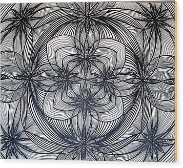 Janes Waves Wood Print by Sarah Yencer