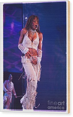 Janet Jackson-01 Wood Print by Timothy Bischoff
