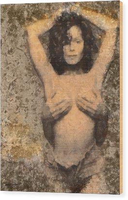 Janet Jackson - Tribute Wood Print by Derek Gedney