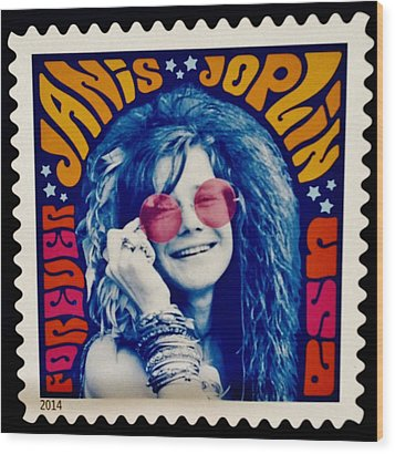 Janis Stamp In A Groovy Vibe Wood Print