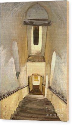 Jantar Mantar Staircase Wood Print by Mukta Gupta
