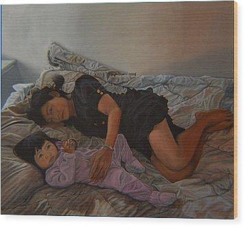 January Afternoon Mukilteo Washington Wood Print by Thu Nguyen