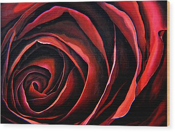 January Rose Wood Print by Thu Nguyen