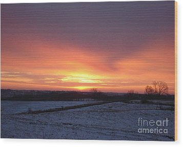 January Sunrise Wood Print