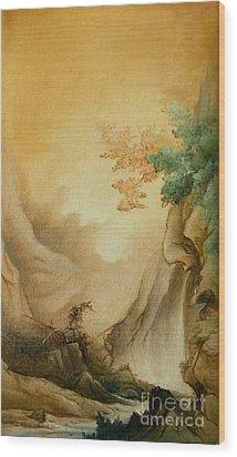 Japanese Autumn Wood Print by Sorin Apostolescu