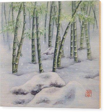 Japanese Bamboos Wood Print by Tomoko Koyama