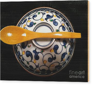 Wood Print featuring the photograph Japanese Bowl by Carol Sweetwood