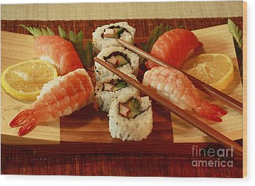 Japanese Cuisine Wood Print by Inspired Nature Photography Fine Art Photography