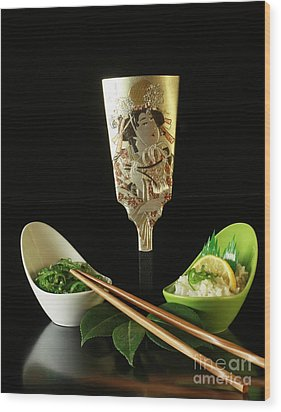 Japanese Fine Dining Wood Print by Inspired Nature Photography Fine Art Photography