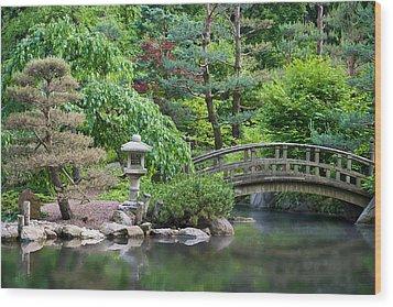 Japanese Garden Wood Print by Adam Romanowicz
