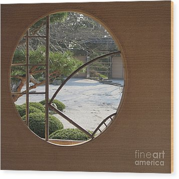 Japanese Garden Wood Print by Kathie Chicoine