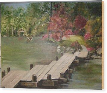 Japanese Garden Maymount Wood Print