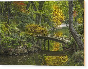Wood Print featuring the photograph Japanese Garden by Sebastian Musial