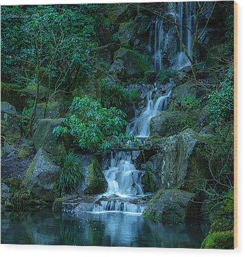 Japanese Garden Serenity 1 Wood Print