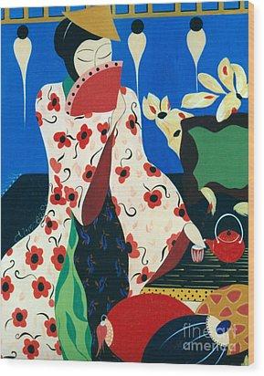 Japanese Tea Wood Print